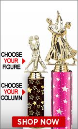 Ballroom Dance Column Trophies