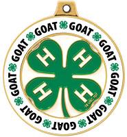 "2"" 4-H Goat Rimz Medal"
