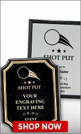 Shot Put Plaques