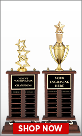 Wood Perpetual Trophy