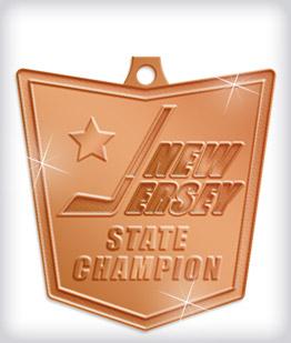 Shiny Bronze Custom Hockey Medals