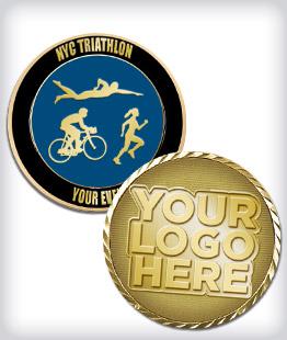 Custom Triathlon Coins