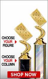Dominoes Column Trophies