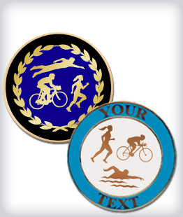 Custom Semi Cloisonne Triathlon Pins