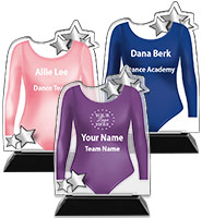 Acrylic Dance Leotard Trophy
