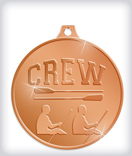 Shiny Bronze Custom Rowing Medals
