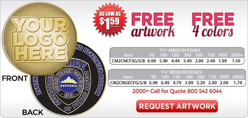 Police Challenge Coins | Law Enforcement Challenge Coin Medals