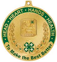 """2 1/2"""" 4-H Beef Medal"""