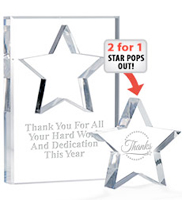 Acrylic Star Pop Out Paperweight