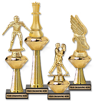 "7"" - 12"" Gold Crystalline Trophies"