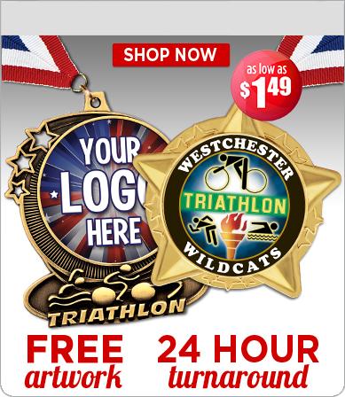 Custom Logo Triathlon Medals