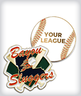 Custom Semi Cloisonne Baseball Pins