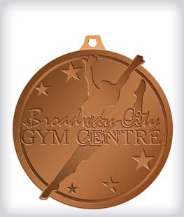 Antique Bronze Custom Gymnastics Medals
