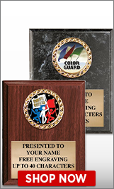 Color Guard Plaques