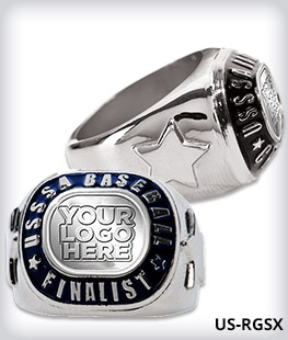 Custom USSSA Finalist Ring With Star Side