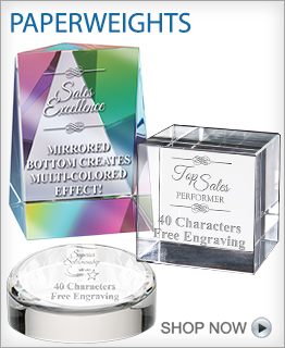 Recognition Paperweight Awards