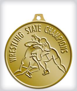 Antique Gold Custom Wrestling Medals