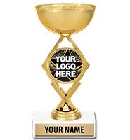 "7 1/4"" Royale Cup Custom Insert Trophy"