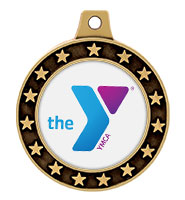 "1 1/2"" YMCA Universe Star Insert Medals"