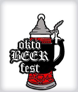 Black Dyed Custom Oktoberfest Medals