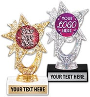 Astral Glitter Gold & Silver Custom Insert Trophies