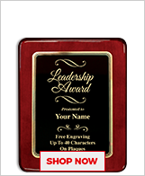 Leadership Awards Plaque