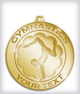 Shiny Gold Custom Gymnastics Medals