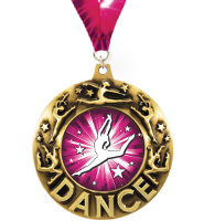 "2 1/4"" Dance Majestic Medal"