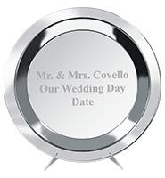 Silver Wedding Metal Salver