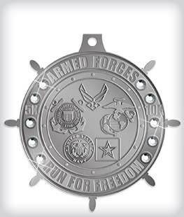 Antique Silver Custom Rhinestone Medals