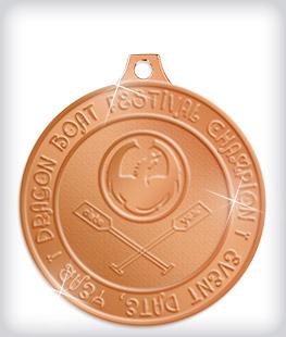 Shiny Bronze Custom Dragon Boat Medals