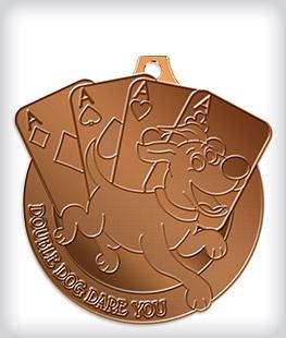 Antique Bronze Custom Mascot Medals