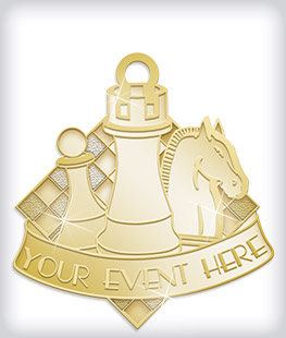 Shiny Gold Custom Logo Medals