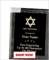 Bat Mitzvah Plaques