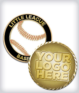 Custom Little League Coins