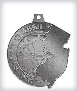 Antique Silver Custom Soccer Medals