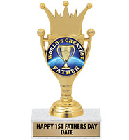 """6 3/4"""" Crown Cup Insert Trophy"""