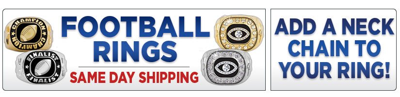 football gorgeous one presentation cfl in championship nfl two box spotted and rings