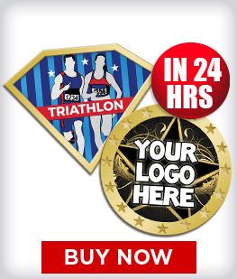 Custom Insert Triathlon Pins