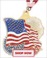 American Flag Medals