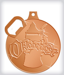 Shiny Bronze Custom Bottle Opener Medals
