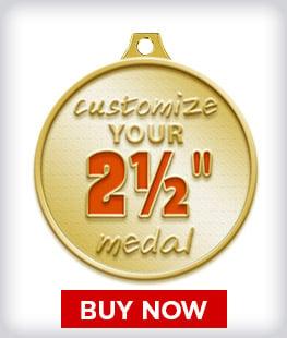 """Custom 2 ½"""" Medal"""