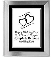 Platinum Wedding Frame Plaque