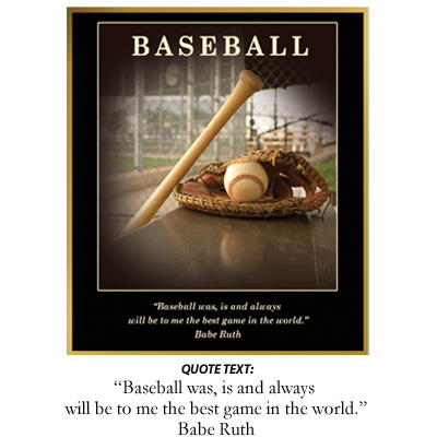 Baseball Inspiration Plaque