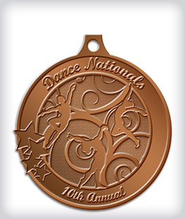 Antique Bronze Custom Dance Medals