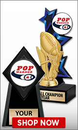 Pop Warner Trophies