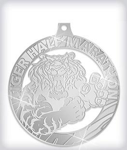 Shiny Silver Custom Marathon Medals