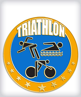 Custom Soft Enamel Triathlon Pins