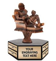 Fantasy Football Couch Potato Hexagon Base Perpetual Trophy
