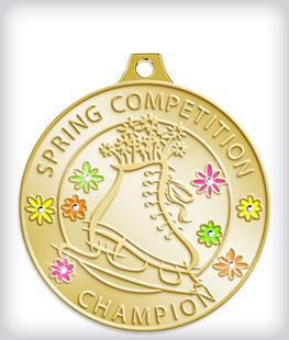 Rhinestone Custom Skating Medals
